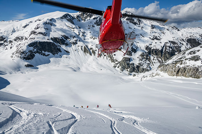 Whistler Heli Skiing, winter.