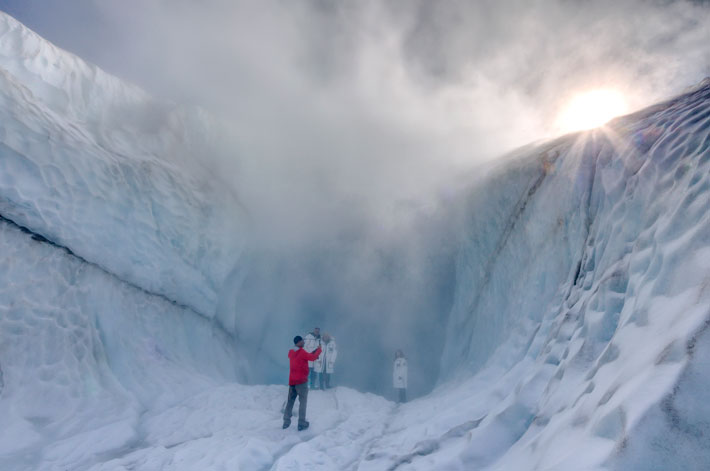 No Limits Helicopter Adventures, volcano ice cave