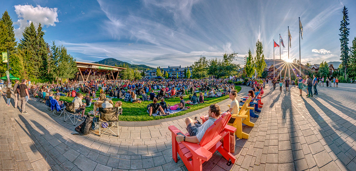 Whistler Olympic Plaza, summer concerts.