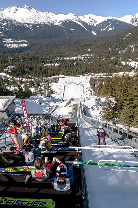 Ski jumpimg, whistler Olympic Park