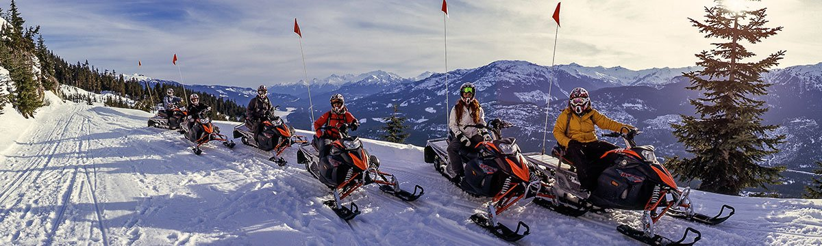 Canadian Snowmobile Adventures, Blackcomb Mountain, winter.