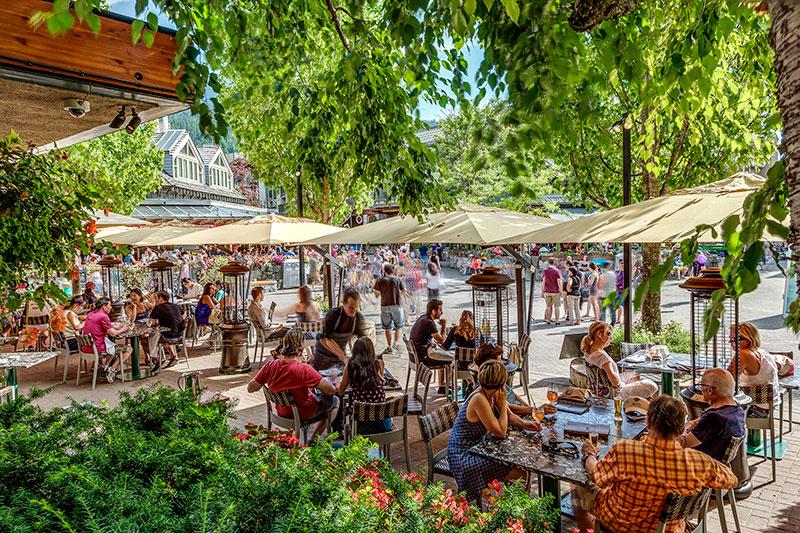 whistler araxi patio dining whistler